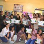 Diputado Luis Sánchez entregó certificados a estudiantes del Centro cultural de Herrera