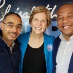 Concejales  Wascar Rivera y Kendrys Vasquez asisten a encuentro con Senadora Elizabeth Warren.