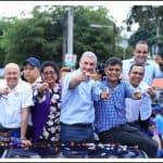 Gonzalo encabeza caravana triunfal en apoyo candidatos municipales de la Alianza en SDO