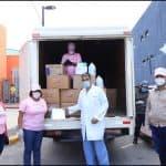Senadora Cristina Lizardo coordina acciones para combatir Covid-19; entrega insumos a hospitales, iglesias y destacamentos policiales de la provincia Santo Domingo