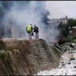 Gran operativo de recogida de desechos sólidos en cañada de Guajimia
