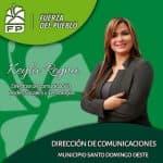 Keyla Reyna agradece a Fuerza del Pueblo por designación en dirección de comunicación en SDO