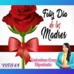 Valentina Cruz dice presente en el día de las madres