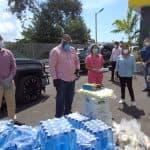 El alcalde Andujar y Raquel Peña hacen recorrido en entrega de ayudas al municipio SDO.