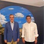El presidente electo Luis Abinader visita a David Collado en su residencia