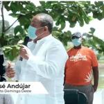 Alcaldía SDO Inicia jornada de limpieza del lago de la Urbanización Paraíso del Caribe, bajo la supervisión del Alcalde José Andújar.