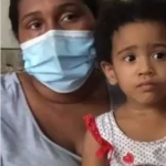 joven madre, Laudy Scarlet Espinosa Guzmán, pide ayuda para su pequeña hija