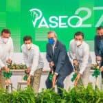 Presidente Abinader da el primer palazo para la construcción de la plaza Paseo 27