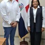 Gobernadora de  provincia de Santo Domingo, doctora Julia Drullard, realizó un encuentro con el licenciado Paúl Álmánzar Hued, administrador INAGUJA