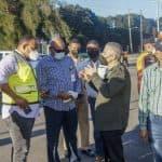 Obras Públicas y Ayuntamiento SDE inician urgente un amplio plan de trabajo de limpieza y bacheo en varios sectores