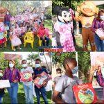 Diputada Ana María Peña entrega juguetes a niños de SDO.