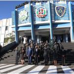 Presidente Abinader revisa trabajos de la Policía Nacional