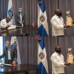 Alcalde Manuel Jiménez recibe visita de cortesía embajador haitiano en RD