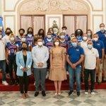Vice presidenta recibe Avanzada Juvenil en el Palacio Nacional