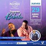 """Banda Gorda y la Coco Band inician """"Los Jueves de Bebeto"""" en el Hard Rock  Café Santo Domingo"""