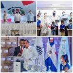 Alcalde de Haina acompaña al presidente Luis Abinader a la entrega de 537, 432 Tablets a Estudiantes