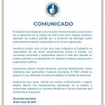 COMUNICADO  caso diputado Miguel Gutiérrez