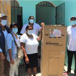 Osvaldo Rodríguez entrega puerta a puerta cientos de electrodomésticos a las madres