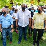 Ministro de Defensa junto alcalde José Andújar y autoridades supervisan centros vacunación en SDO