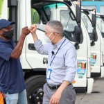 Ayuntamiento de Santo Domingo Este comienza a integrar nueva flotilla de camiones al servicio de recogida de basura